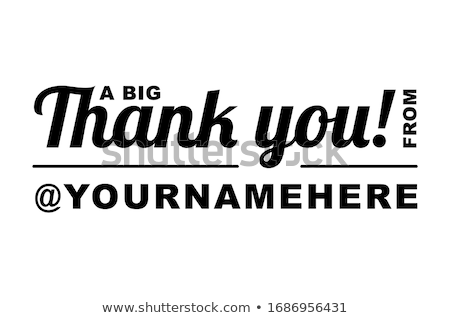 Thank you social media creative banner template Stock photo © Decorwithme
