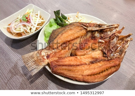 fried spices snapper stock photo © koratmember