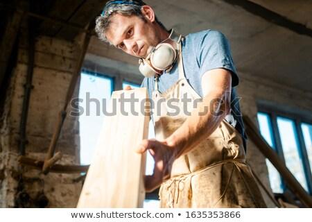 Stolarz warsztaty drewna następny projektu Zdjęcia stock © Kzenon