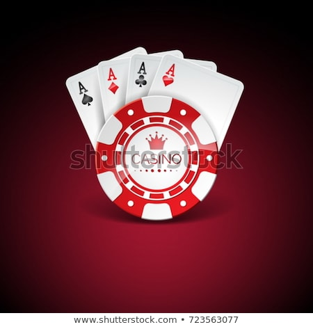 Lighted Casino Chips On A Dark Background Vector Illustration Stok fotoğraf © articular
