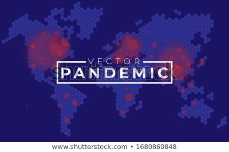 Bleu carte du monde noir coronavirus monde Photo stock © mizar_21984