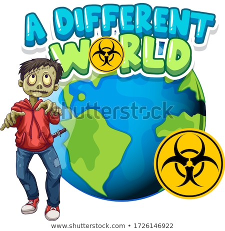 Fonte projeto palavra diferente mundo zumbi Foto stock © bluering