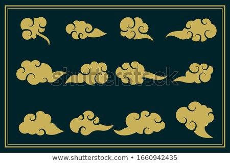 chinese traditional clouds decorative set of twelve Stock photo © SArts