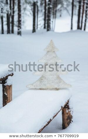 вертикальный выстрел белый искусственный скамейке Сток-фото © vkstudio
