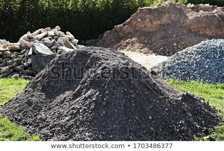 Buiten opslag grind bodem stenen plaats Stockfoto © hamik