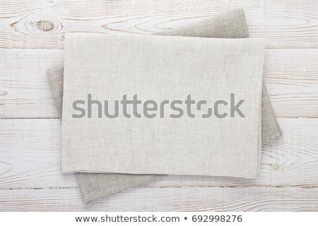 Guardanapo toalha cinza topo Foto stock © furmanphoto