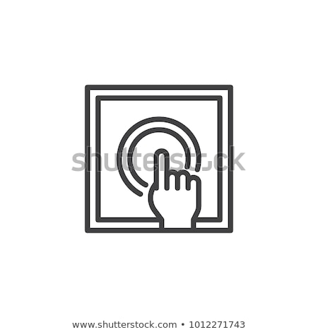 Strony ognia przycisk ikona Zdjęcia stock © pikepicture