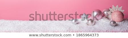 クリスマス ピンク 雪 グリッター 高級 ギフト ストックフォト © Anneleven