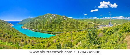 Plomin valley and bay power plant in green landscape  highest cr Stock photo © xbrchx