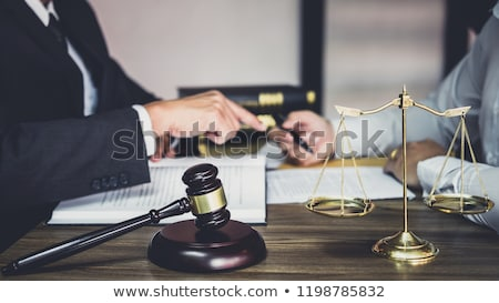 Judge Or Lawyer In Courtroom With Gavel Stock photo © AndreyPopov