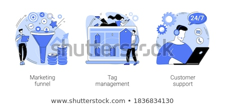 Telemarketing Sale Collection Icons Set Vector Stock photo © pikepicture