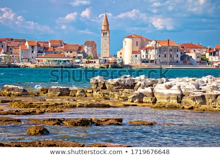 Town of Umag waterfront architecture view Stock photo © xbrchx