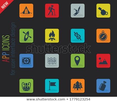 Gün renk vektör simgeler web Stok fotoğraf © ayaxmr