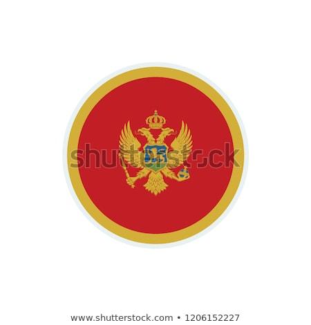 Черногория флаг белый фон ткань волна Сток-фото © butenkow