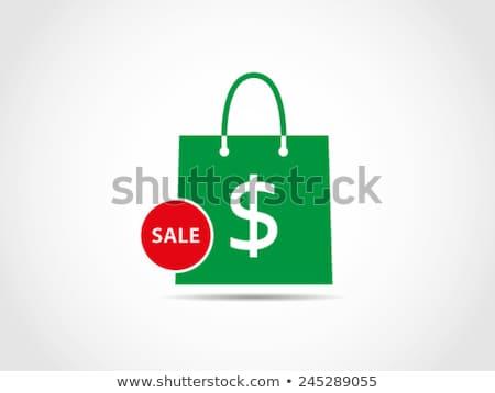 Compras on-line saco percentagem desconto mercado Foto stock © yupiramos