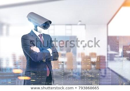 корпоративного кабельное телевидение наблюдение множественный контроля компьютер Сток-фото © AndreyPopov