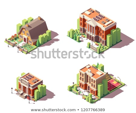 Academy Educational Isometric Icons Set Vector Stock photo © pikepicture