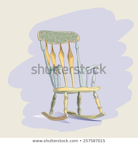 Wooden Rocking Chair, Furniture with Curved Rocker Stock photo © robuart