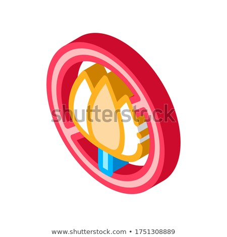 Allergen Free Sign Flower isometric icon vector illustration Stock photo © pikepicture