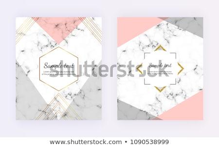 Carte de visite invitation marbre papier Photo stock © Anneleven