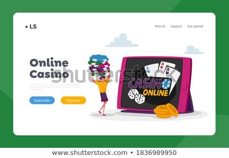 Hazárdjáték jövedelem leszállás oldal póker játékos Stock fotó © RAStudio