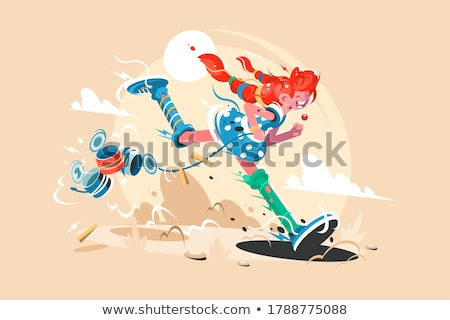 Fairy tale character pippi long stocking Stock photo © jossdiim