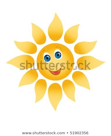 楽しく 笑みを浮かべて 太陽 白 眼 オレンジ ストックフォト © Nobilior