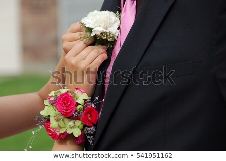 Pinning a corsage  Stock photo © Hofmeester