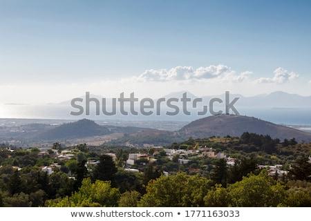 görmek · köy · yön · gökyüzü · doğa · manzara - stok fotoğraf © wjarek