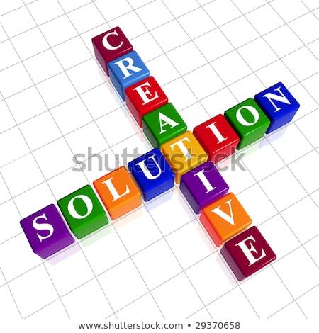 color creative solution like crossword stock photo © marinini