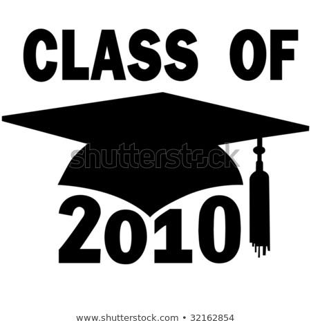 класс 2010 окончания Cap чтение школы Сток-фото © iqoncept