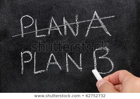 Ki terv ír b-terv iskolatábla üzlet Stock fotó © latent