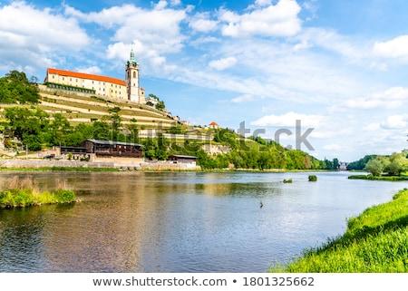 Kasteel Tsjechische Republiek gebouw schip rivier architectuur Stockfoto © phbcz