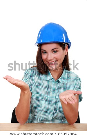 Empty-handed tradeswoman Stock photo © photography33