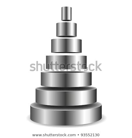 Metallic Zylinder Pyramide Illustration unterschiedlich geschnitten Stock foto © unkreatives