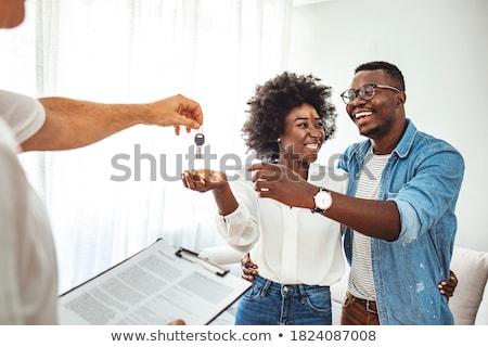 Paar persönlichen Veranstalter Sitzung glücklich Telefon Stock foto © photography33