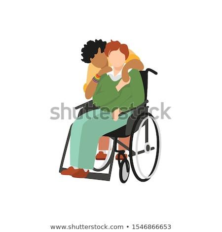 Semleges pár fehér vidék hölgy szerelmespár Stock fotó © photography33