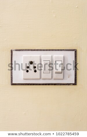 Сток-фото: Switch And Power Outlet