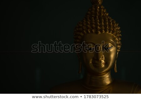 Golden Smile Buddha Statue in a Temple in Thailand Stock photo © pinkblue