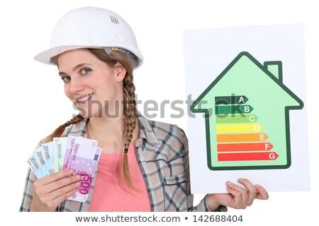 artisan · énergie · consommation · étiquette · bâtiment · travaux - photo stock © photography33