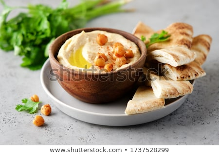 Pita pão cozinhar vegetal fresco refeição Foto stock © M-studio