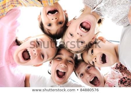 child shouting or singing Stock photo © godfer