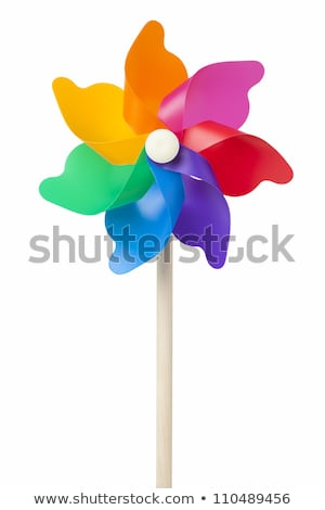 Stock photo: colorful windmill