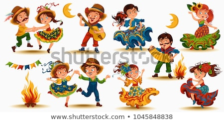 salsa · tancerz · piękna · stanowią · młoda · kobieta · dance - zdjęcia stock © feedough
