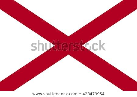 Bayrak Alabama rüzgâr star kırmızı Stok fotoğraf © creisinger
