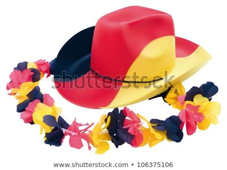 ковбойской шляпе флаг выстрел белый черный Cowboy Сток-фото © vankad