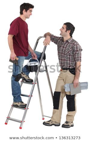 Tile fitters having a conversation Stock photo © photography33