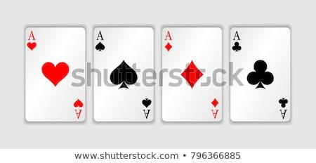 As kartları kumarhane oyun kumar örnek Stok fotoğraf © ajlber