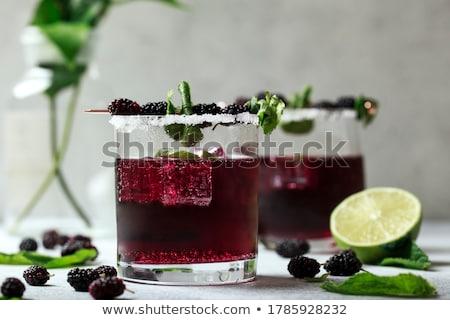 édes · dzsúz · szeder · gyümölcs · közelkép · fehér - stock fotó © masha