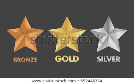 Goud zilver bronzen sterren Stockfoto © papa1266